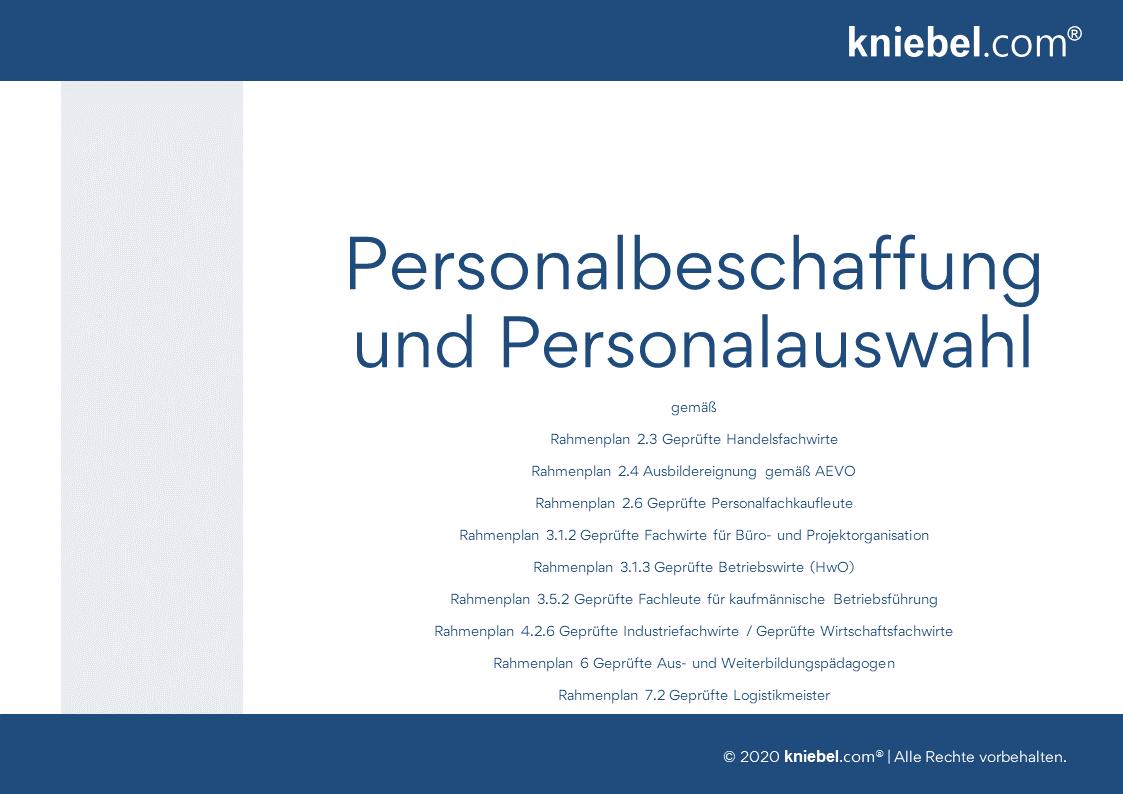 Personalbeschaffung und Personalauswahl