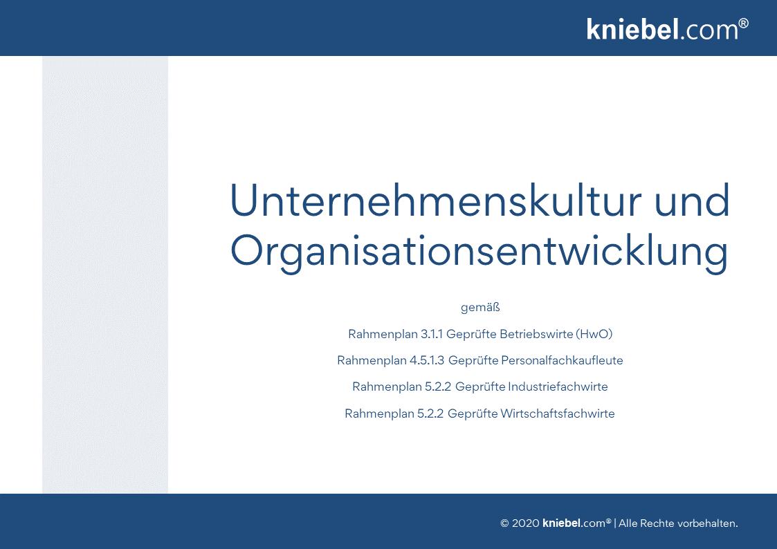 Unternehmenskultur und Organisationsentwicklung